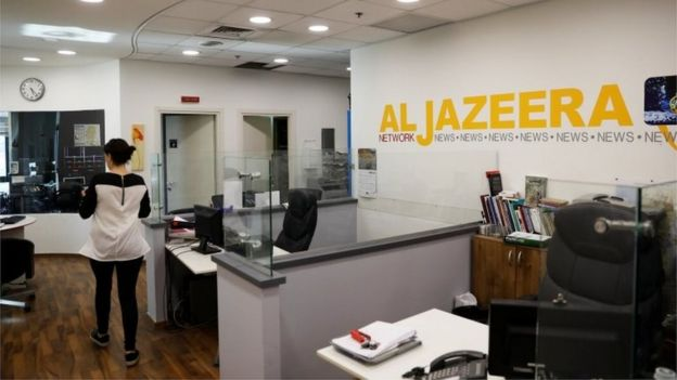 Al-Jazeera's office in Jerusalem (27/07/17)