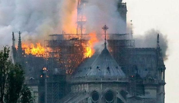 Notre-Dame em chamas