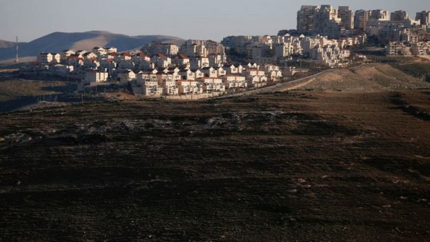The Israeli settlement of Maale Adumim in the occupied West Bank