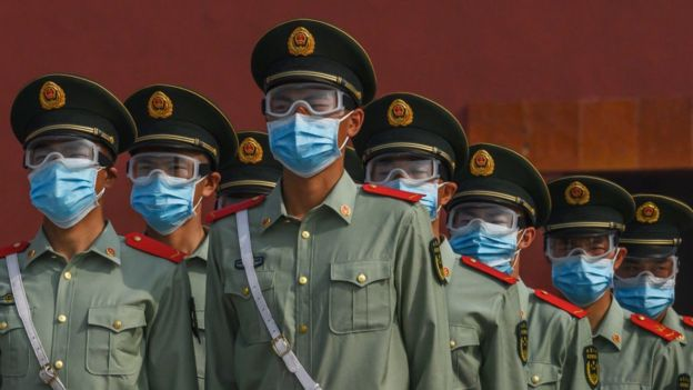 китайская военная полиция.