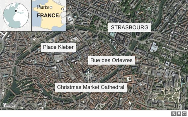 Strasbourg shooting: Gunman at large after three killed and 12 ...