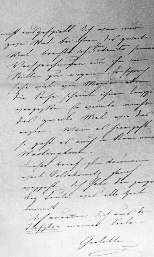 Una carta de Carlota para Maximiliano