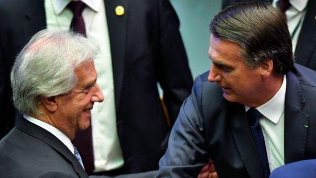 Vazquez y Bolsonaro