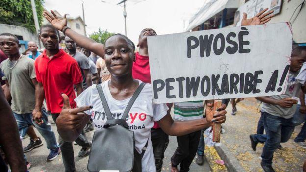 Protestas en Haiti