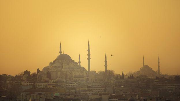 Imagen de Estambul al atardecer.