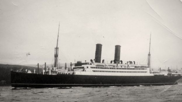 The SS Tuscania was carrying more than 2,000 US troops