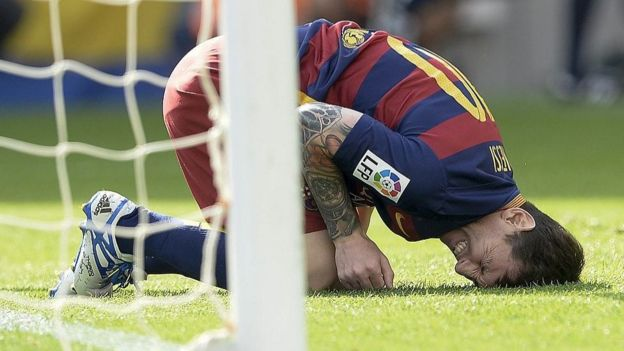 Messi injured