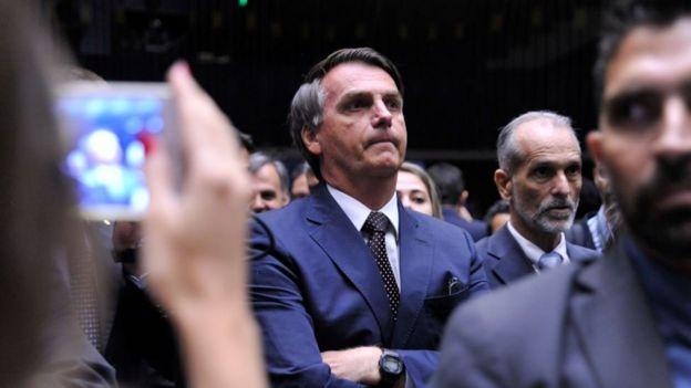 Jair Bolsonaro no plenário da Câmara