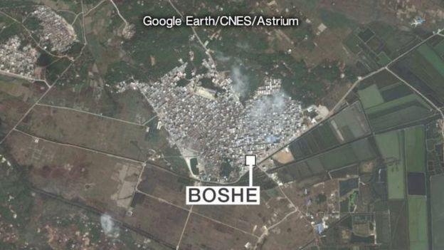 Làng Bác Xã (Boshe) trù phú giàu có hơn hẳn các vùng xung quanh