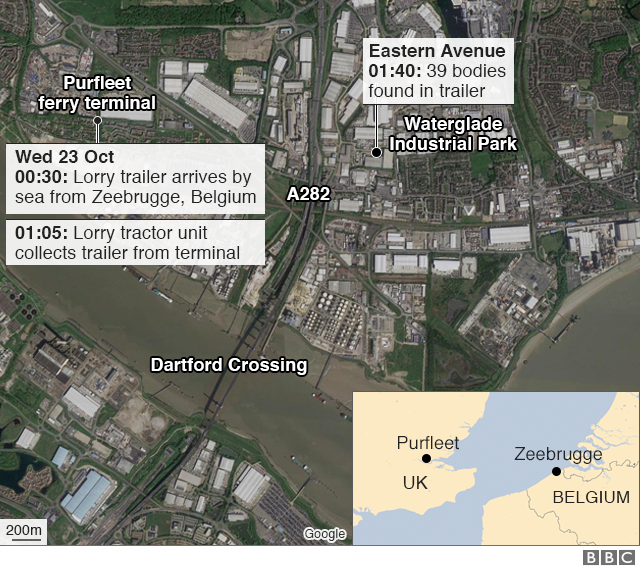 Graphic of Purfleet ferry channel