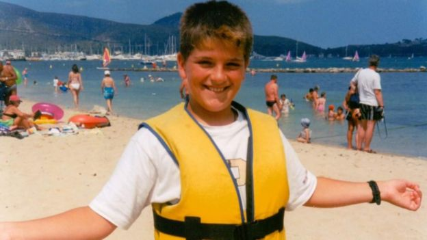 Una foto de infancia de Daryll.