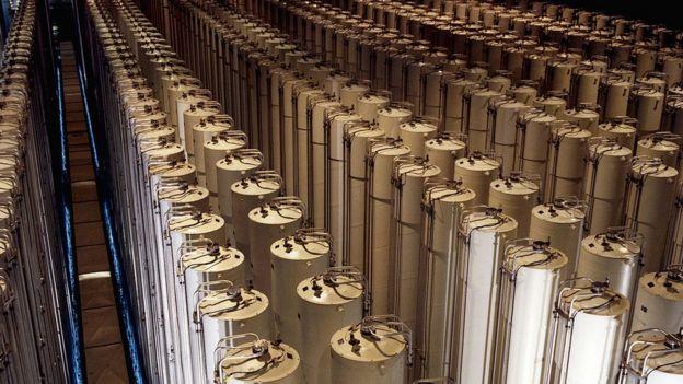 Centrifugadoras en GCEP en Piketon, Ohio, Estados Unidos.