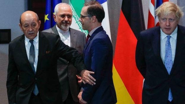 ظریف و وزرای خارجه اروپا