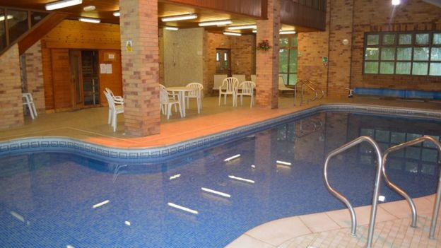 Swimming pool at Knockerdown Cottages