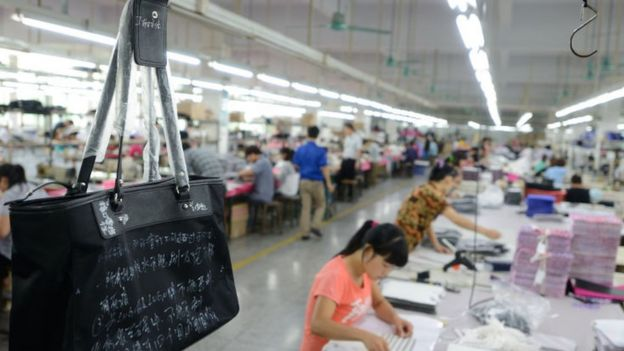 Bags factory in Shenzhen