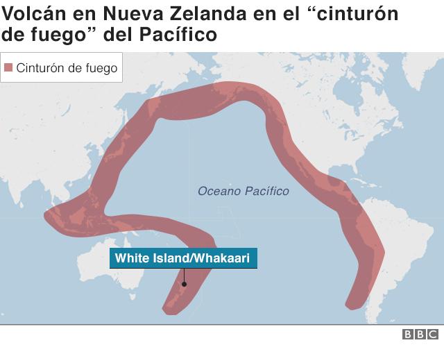 Cinturón de fuego del Pacífico.