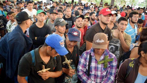 Migrantes centroamericanos en Tapachula