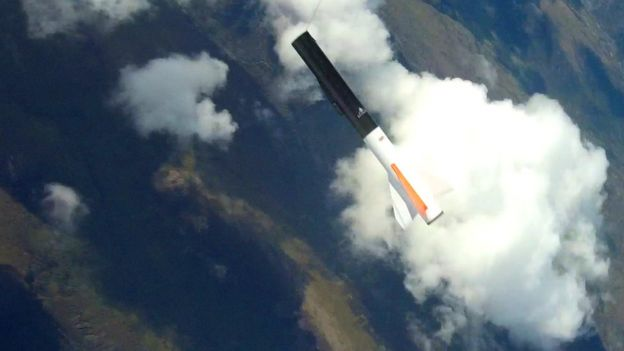 First' commercial rocket launched from Scotland - BBC News