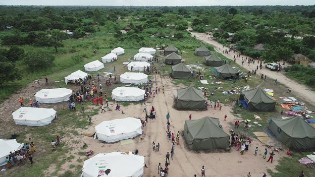 A UN camp for the people displaced in Beira