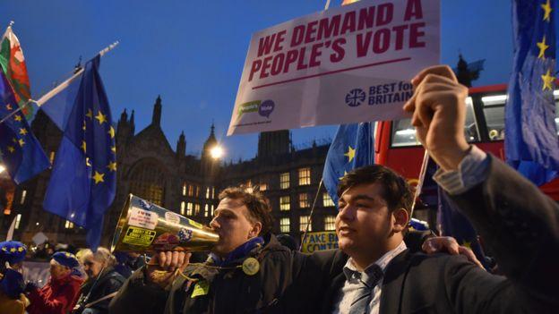 Partidarios de que se vuelva a votar en Reino Unido