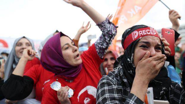 Erdoğan'ın Kandil operasyonunu duyurduğu Kocaeli mitinginden bir fotoğraf