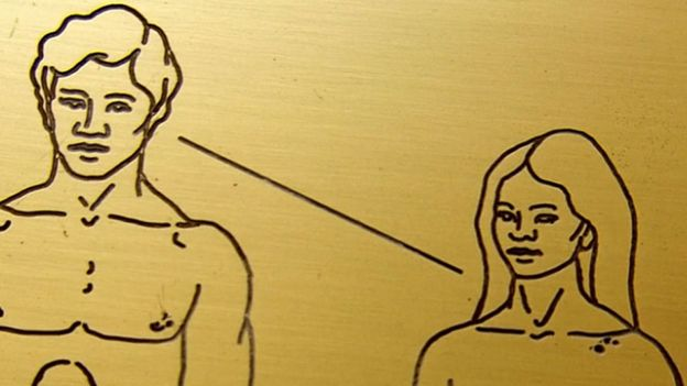 Gros plan des visages d'homme et de femme