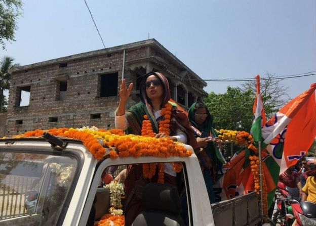 Mahua Moitra during her road show