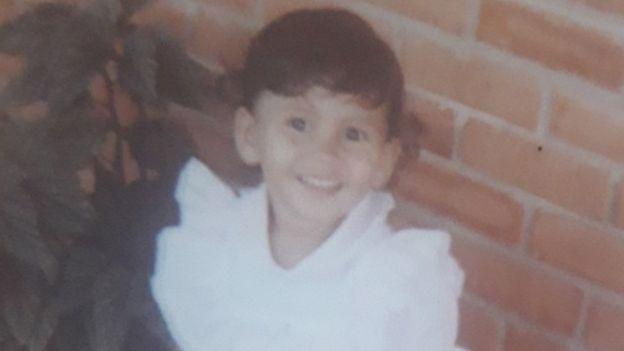 Luciana cuando era niña.