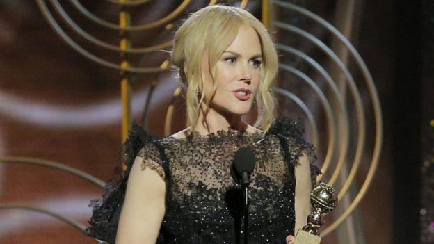 الممثلة نيكول كيدمان في حفل توزيع الجوائز