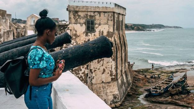 Woman at Cape Coast Castle in Ghana