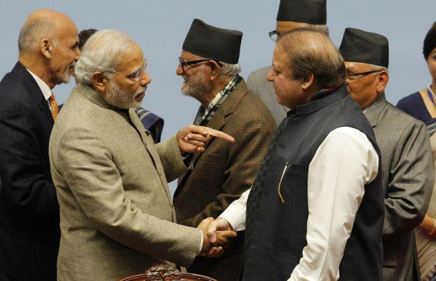 प्रधानमंत्री नरेंद्र मोदी, नवाज शरीफ