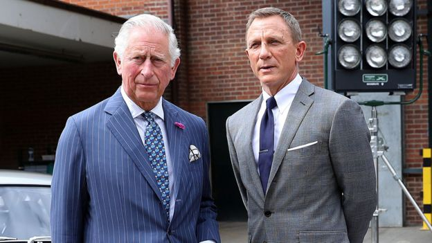 Prince Charles with Daniel Craig
