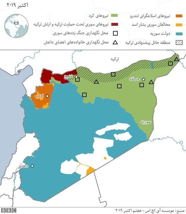 نقشه مرز سوریه وترکیه