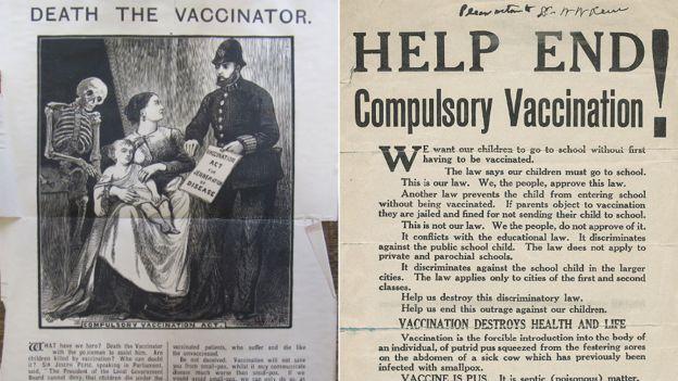 الحملات المناهضة للقاحات صممت الكثير من أشكال الدعاية لدعم توجههم