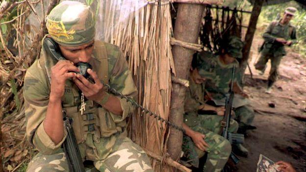 Soldado ecuatoriano durante el conflicto con Perú.