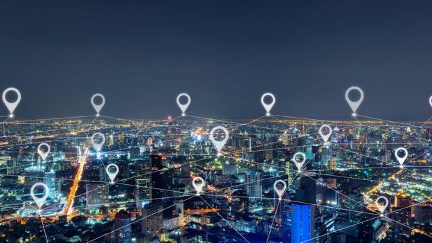 Ciudad asiática son símbolos de localización.