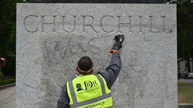 Estatua de Churchill en Londres