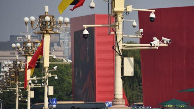 Cámaras en las calles de Pekín.