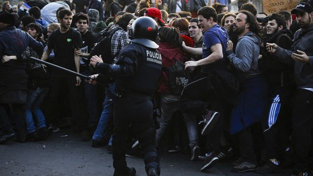 Protestas en Barcelona en 2012.