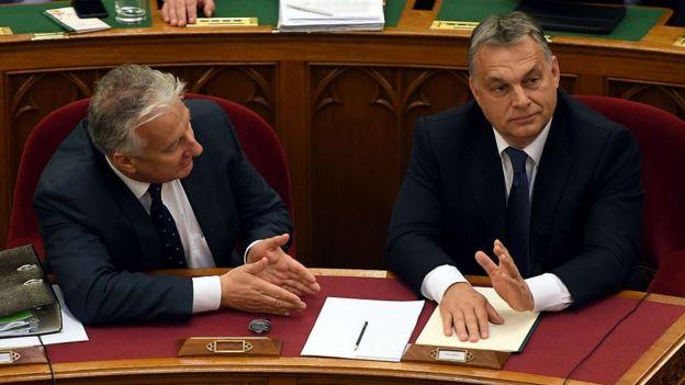 Zsolt Semjen y Viktor Orbán