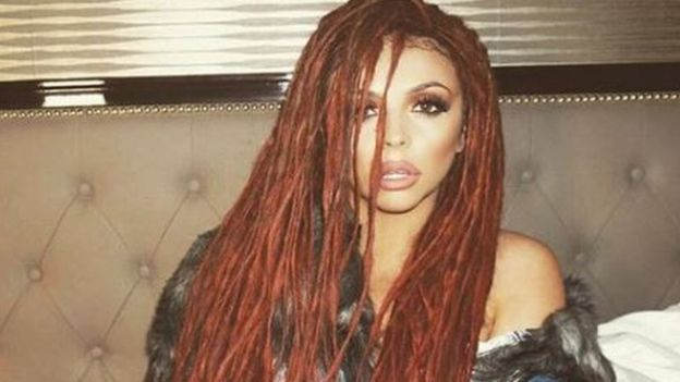 Jesy Nelson with dreads