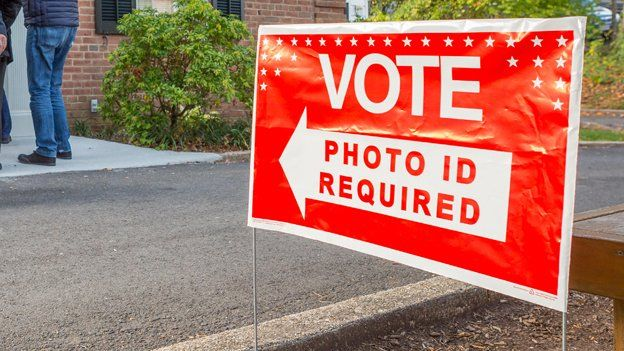 Voter ID polling place in Virginia