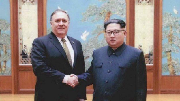 Майцк Помпео и Ким Чен Ын