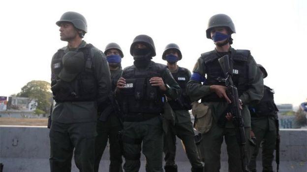 Soldados na Venezuela, 30 de Abril de 2019