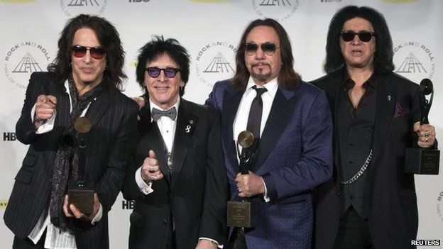 Paul Stanley, Peter Criss, Ace Frehley and Gene Simmons of Kiss