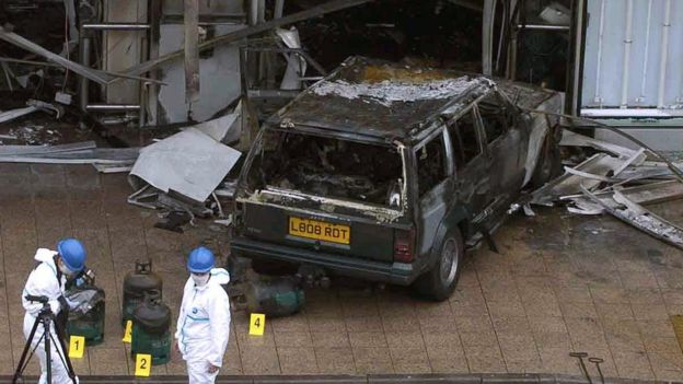 Jeep after Glasgow airport attack