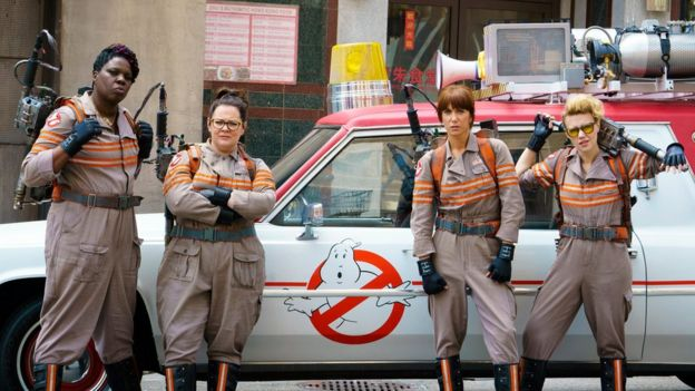 Milo Yiannopoulos tweeted about Ghostbusters actress Leslie Jones (left)