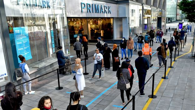 Queue outside Primark