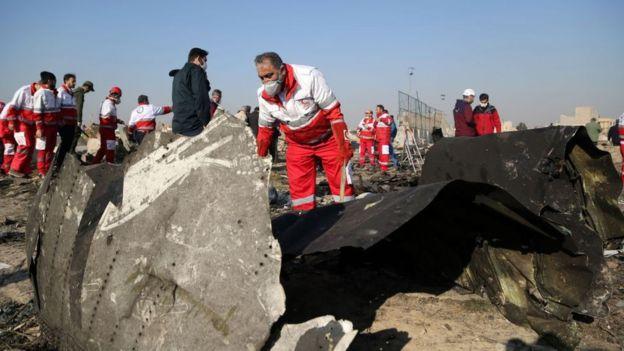 Авария украинского самолета в Иране