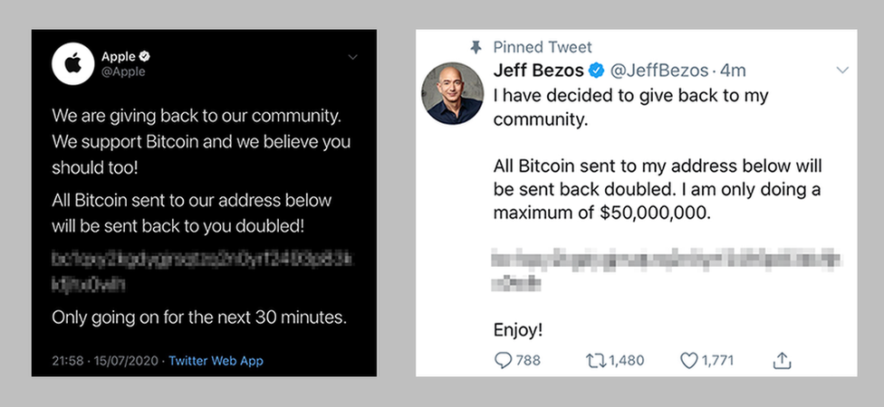 Apple and Jeff Bezos tweets